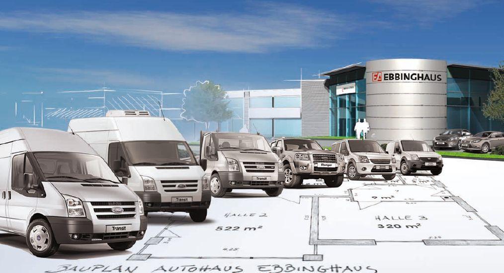 Ford-Ebbinghaus- in Ebbinghaus Autozentrum Dortmund eröffnet Ford Gewerbe-Partner Zentrum