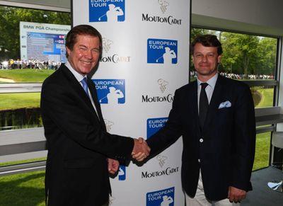 George-OGrady-und-Hugues-Lechanoine in Golf: Mouton Cadet ist offizieller Weinlieferant der European Tour