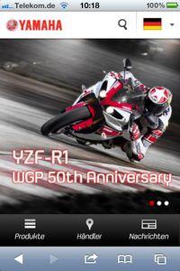 Yamaha-motor-de in Yamaha mit mobiler Website für Smartphones