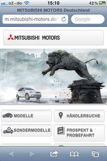 Mitsubishi-motors-mobile in Mitsubishi geht ins mobile Web