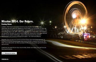 Mission-2014-porsche in Porsche Microsite: Mission 2014. Our Return.