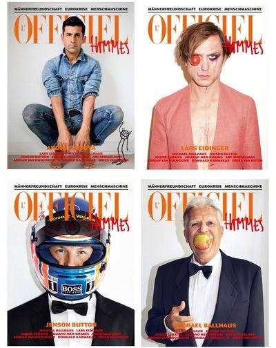 LOfficiel-Hommes-Cover in Print: Vier Cover für LOfficiel Hommes