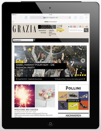 Grazia-app-ipad in Grazia mit neuem Digital-Look