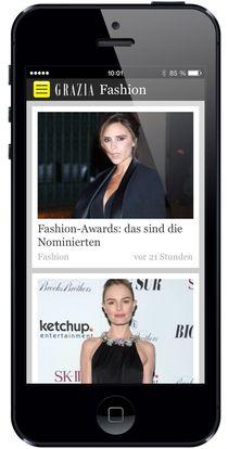 Grazia-app-iphone in Grazia mit neuem Digital-Look